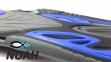 Ласты с открытой пяткой Zelart ZP-453 для плавания, цвет синий 6