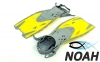 Ласты детские с открытой пяткой Zelart ZP-452 для плавания, цвет желтый 6