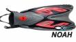 Ласты с открытой пяткой Zelart ZP-453 для плавания, цвет красный 0