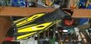 Ласты с открытой пяткой Zelart ZP-451 для плавания, желтый 0