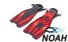 Ласты с открытой пяткой Zelart ZP-451 для плавания, цвет красный 0