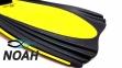 Ласты с закрытой пяткой Zelart ZP-439 для плавания, цвет желтый 3