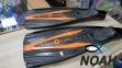 Ласты AquaLung Express с закрытой пяткой (черно-оранжевые) 0