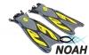 Ласты с открытой пяткой Zelart ZP-453 для плавания, цвет желтый 0