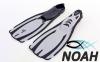Ласты с закрытой пяткой Zelart ZP-443 для плавания, цвет серый 9