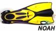 Ласты Verus Dive Expert Yellow с открытой пяткой для дайвинга 2