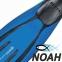 Ласты Mares Avanti Quattro + с открытой пяткой для плавания, цвет синий 3