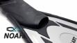 Ласты с закрытой пяткой Zelart ZP-443 для плавания, цвет серый 4