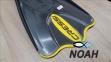 Ласты Cressi Palau SAF короткие с открытой пяткой, желтые 2