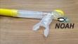 Трубка Marlin Dry Duo для плавания двухклапанная, желтая 3