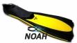 Ласты с закрытой пяткой Zelart ZP-439 для плавания, цвет желтый 0
