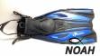 Ласты с открытой пяткой Zelart ZP-451 для плавания, цвет синий 0