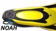 Ласты с закрытой пяткой Zelart ZP-439 для плавания, цвет желтый 6