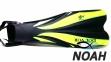 Ласты Dolvor F30 для плавания и дайвинга с открытой пяткой, желтые 0