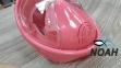 Полнолицевая детская маска Verus Free Breath KID для плавания, розовая 5