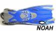 Ласты детские с открытой пяткой Zelart ZP-452 для плавания, цвет синий 0
