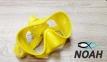 Маска Verus F1 DUO Yellow для плавания, желтая 0