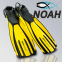 Ласты Mares Avanti Quattro + с открытой пяткой для плавания, цвет желтый 6