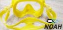 Маска Verus F1 DUO Yellow для плавания, желтая 4