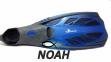 Ласты с закрытой пяткой Zelart ZP-444 для плавания, цвет синий  2