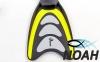 Ласты с закрытой пяткой Zelart ZP-432 для плавания, цвет желтый 3