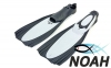 Ласты с закрытой пяткой Zelart ZP-439 для плавания, цвет серый 0