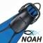 Ласты Mares Avanti Quattro + с открытой пяткой для плавания, цвет синий 2