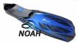 Ласты с закрытой пяткой Zelart ZP-444 для плавания, цвет синий  0