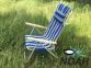 Кресло-шезлонг Ясень d20 мм текстилен сине-жёлтый (7134) 6