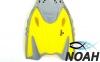 Ласты детские с открытой пяткой Zelart ZP-452 для плавания, цвет желтый 3