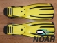 Ласты Mares Avanti Quattro + с открытой пяткой для плавания, цвет желтый 8