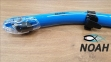 Трубка Marlin Dry Duo для плавания двухклапанная, синяя 1