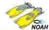 Ласты детские с открытой пяткой Zelart ZP-452 для плавания, цвет желтый 5
