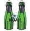 Ласты Mares Avanti Quattro + с открытой пяткой для плавания, цвет зеленый 0