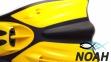 Ласты Verus Dive Expert Yellow с открытой пяткой для дайвинга 5