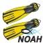 Ласты Mares Avanti Quattro + с открытой пяткой для плавания, цвет желтый 0