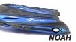 Ласты с открытой пяткой Zelart ZP-451 для плавания, цвет синий 2