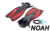 Ласты с открытой пяткой Zelart ZP-451 для плавания, цвет красный 2