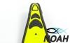 Ласты с закрытой пяткой Zelart ZP-432 для плавания, цвет желтый 2