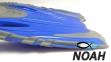 Ласты детские с открытой пяткой Zelart ZP-452 для плавания, цвет синий 5