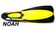 Ласты с закрытой пяткой Zelart ZP-439 для плавания, цвет желтый 2