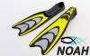 Ласты с закрытой пяткой Zelart ZP-432 для плавания, цвет желтый 0