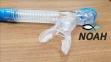 Трубка Marlin Dry Duo для плавания двухклапанная, синяя 2
