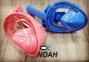 Полнолицевая детская маска Verus Free Breath KID для плавания, синий 8