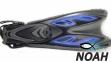 Ласты с открытой пяткой Zelart ZP-453 для плавания, цвет синий 2