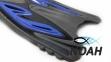 Ласты с открытой пяткой Zelart ZP-453 для плавания, цвет синий 7