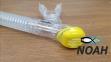 Трубка Marlin Dry Duo для плавания двухклапанная, желтая 5