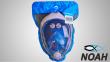 Маска Easybreath Tribord для снорклинга, синяя 10