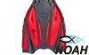 Ласты с открытой пяткой Zelart ZP-451 для плавания, цвет красный 3