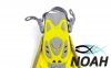 Ласты детские с открытой пяткой Zelart ZP-452 для плавания, цвет желтый 2